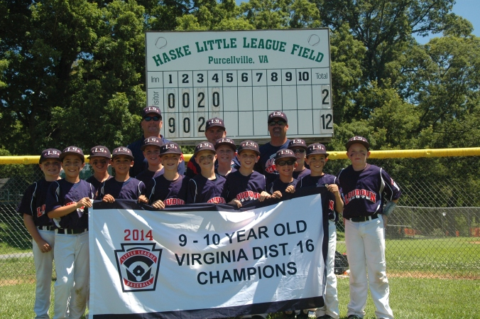 District 16 9-10 Year-Old Baseball Champions, Loudoun South!