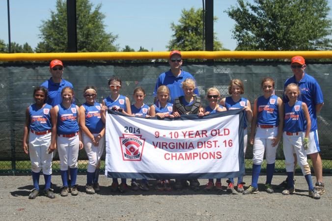 District 16 9-10 Year-Old Softball Champions, Loudoun Girls!