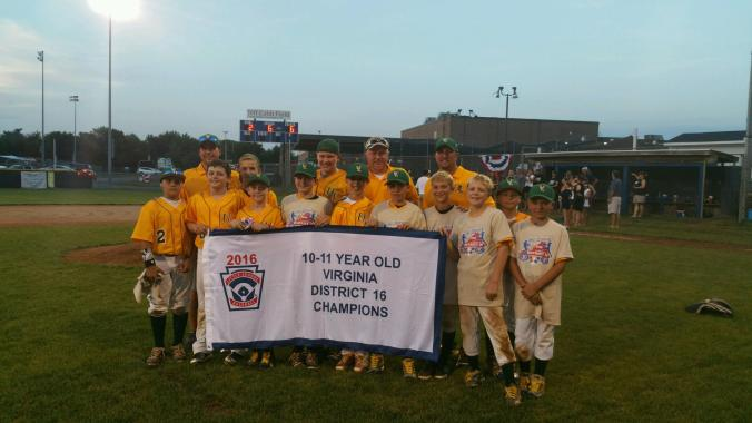 Upper Loudoun Little League National, 2016 Virginia District 16 10-11 Year-Old Baseball Champions
