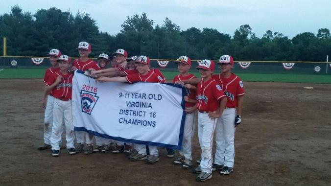 Loudoun South Little League American, 2016 Virginia District 16 9-10 Year-Old Baseball Champions